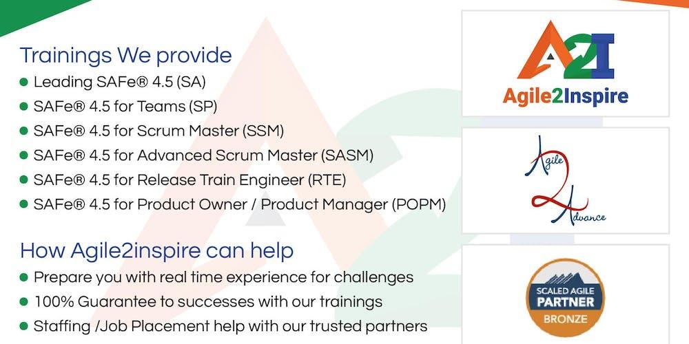 Safe Scrum Master Ssm Scaled Agile Certification Training