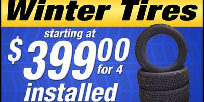 Winter Tire Sale at The Car Lot etc.