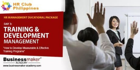 TRAINING & DEVELOPMENT MANAGEMENT tickets