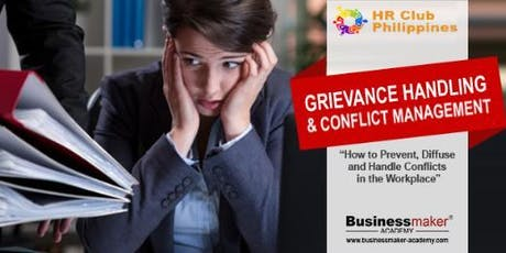 GRIEVANCE HANDLING & CONFLICT MANAGEMENT tickets