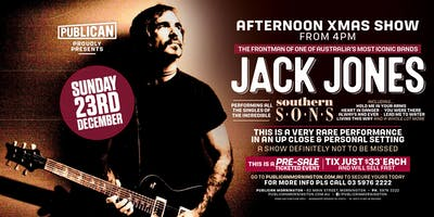 Jack Jones Sunday 23rd December!