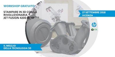 Workshop Vicenza: Stampare in 3D con la tecnologia Jet Fusion di HP