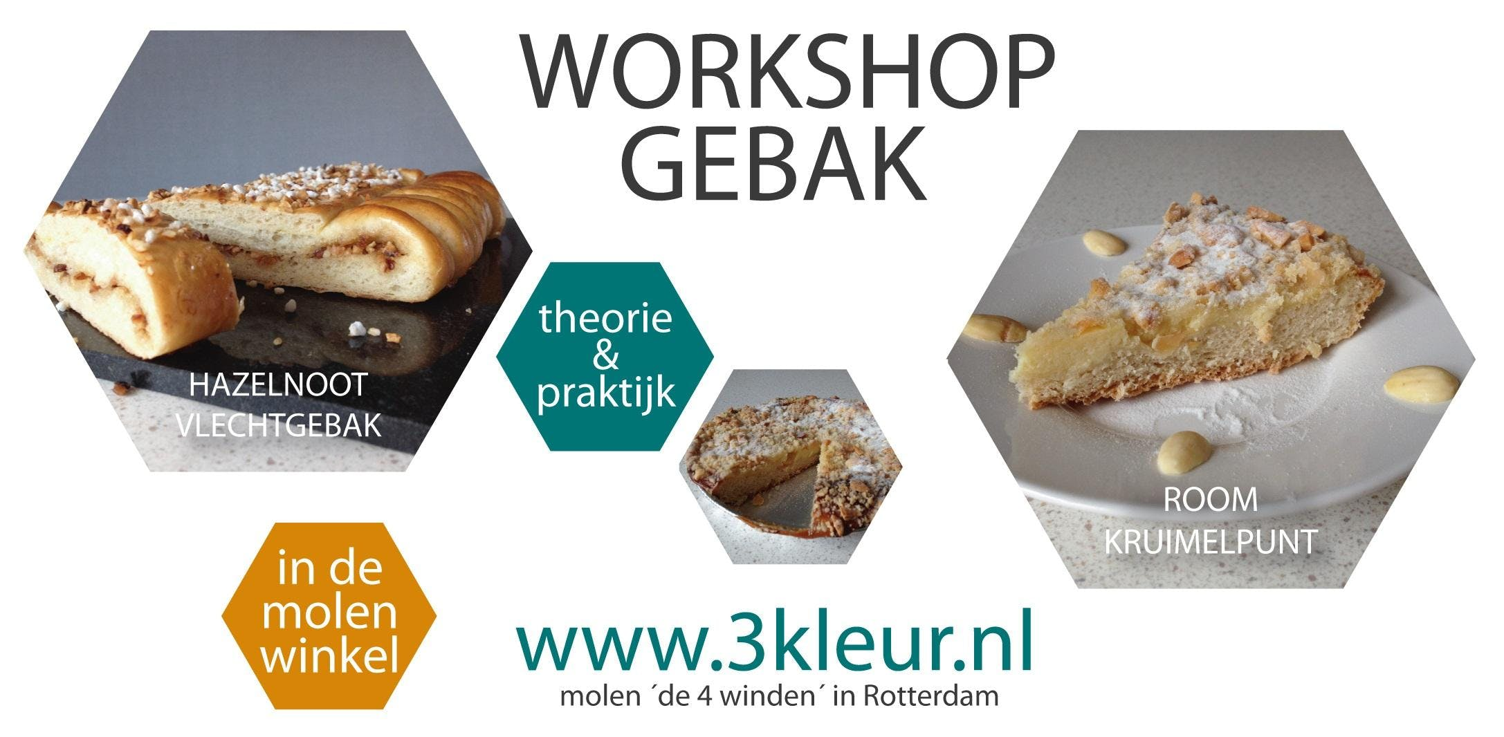 Workshop Gebak ~ room-kruimeltaart en noten-v