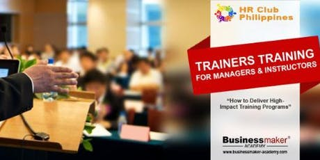 TRAINERS TRAINING FOR  MANAGERS & INSTRUCTORS tickets