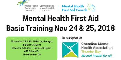 Mental Health First Aid Training - Thunder Bay - November 24 & 25, 2018