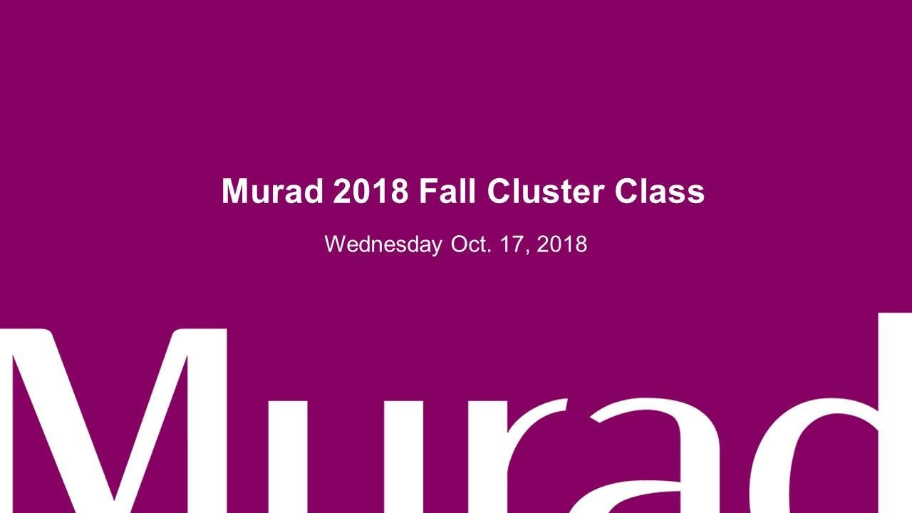 Murad 2018 Fall Cluster Class (CT)