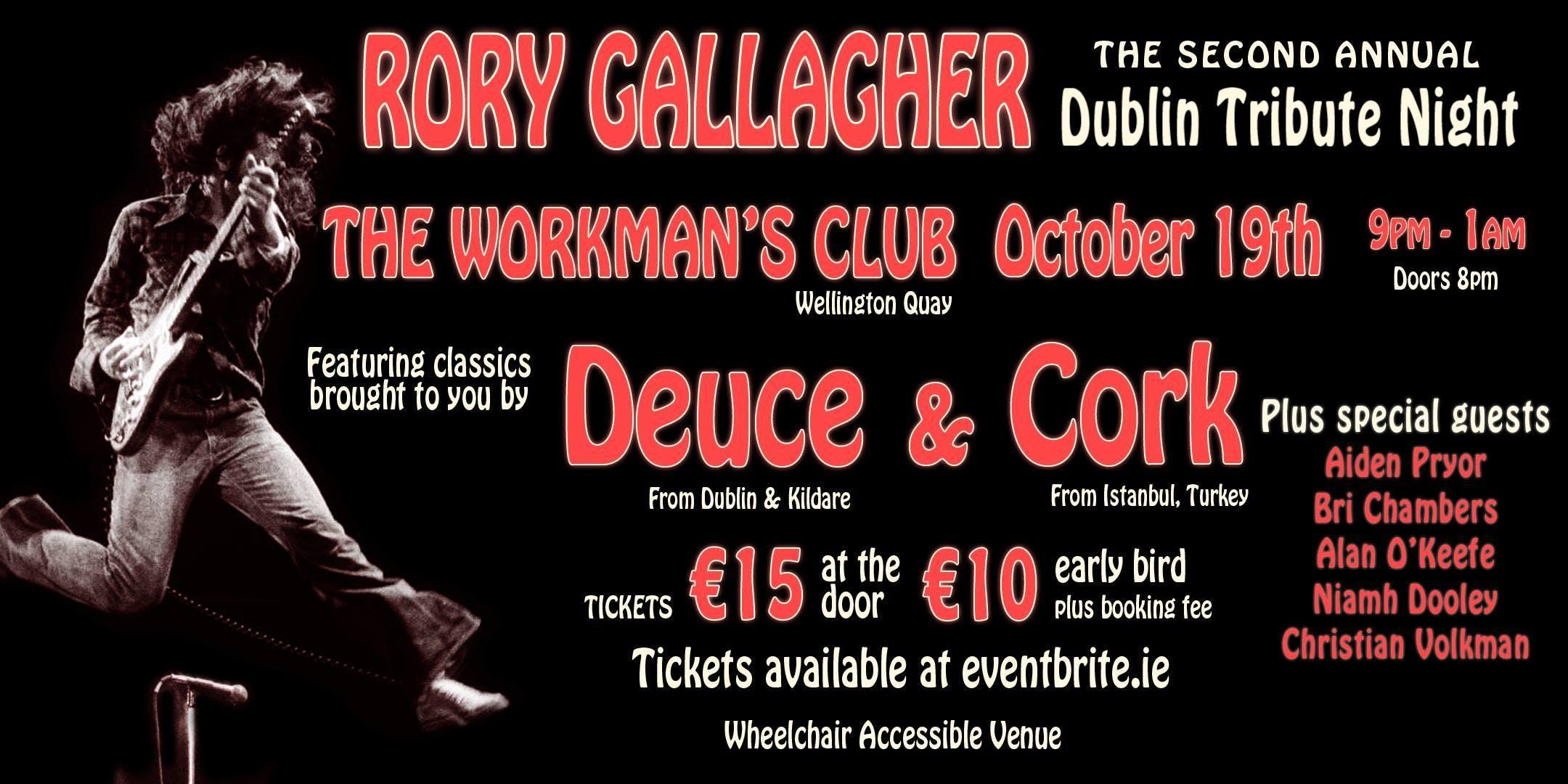 Rory Gallagher Dublin Tribute Night
