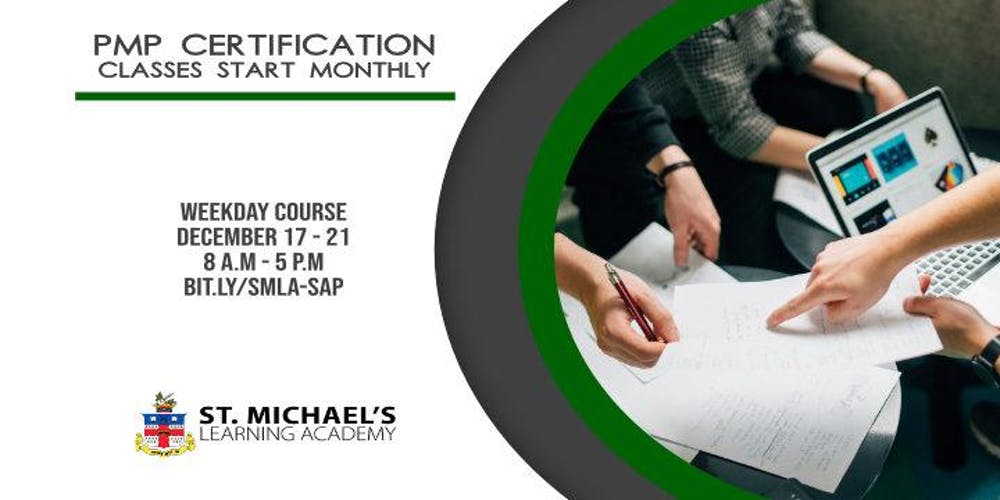 Weekday Project Management Professional Pmp Certification December