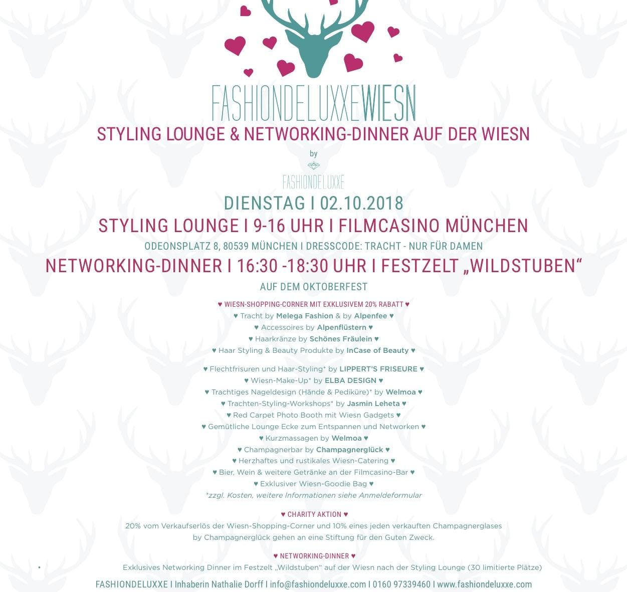 Fashiondeluxxe Wiesn - Styling Lounge & Networking Dinner at München ...