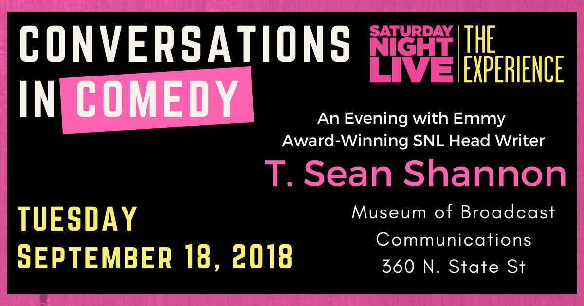 Conversations in Comedy: SNL Writer T. Sean S