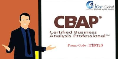 CBAP Certification Classroom Training in Canyon Lake, CA