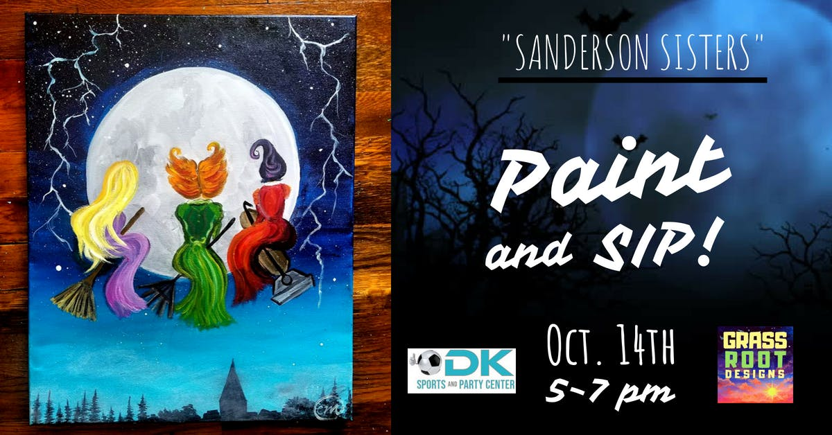 Sanderson Sisters Paint Party Middleburg Hts 14 Oct 2018