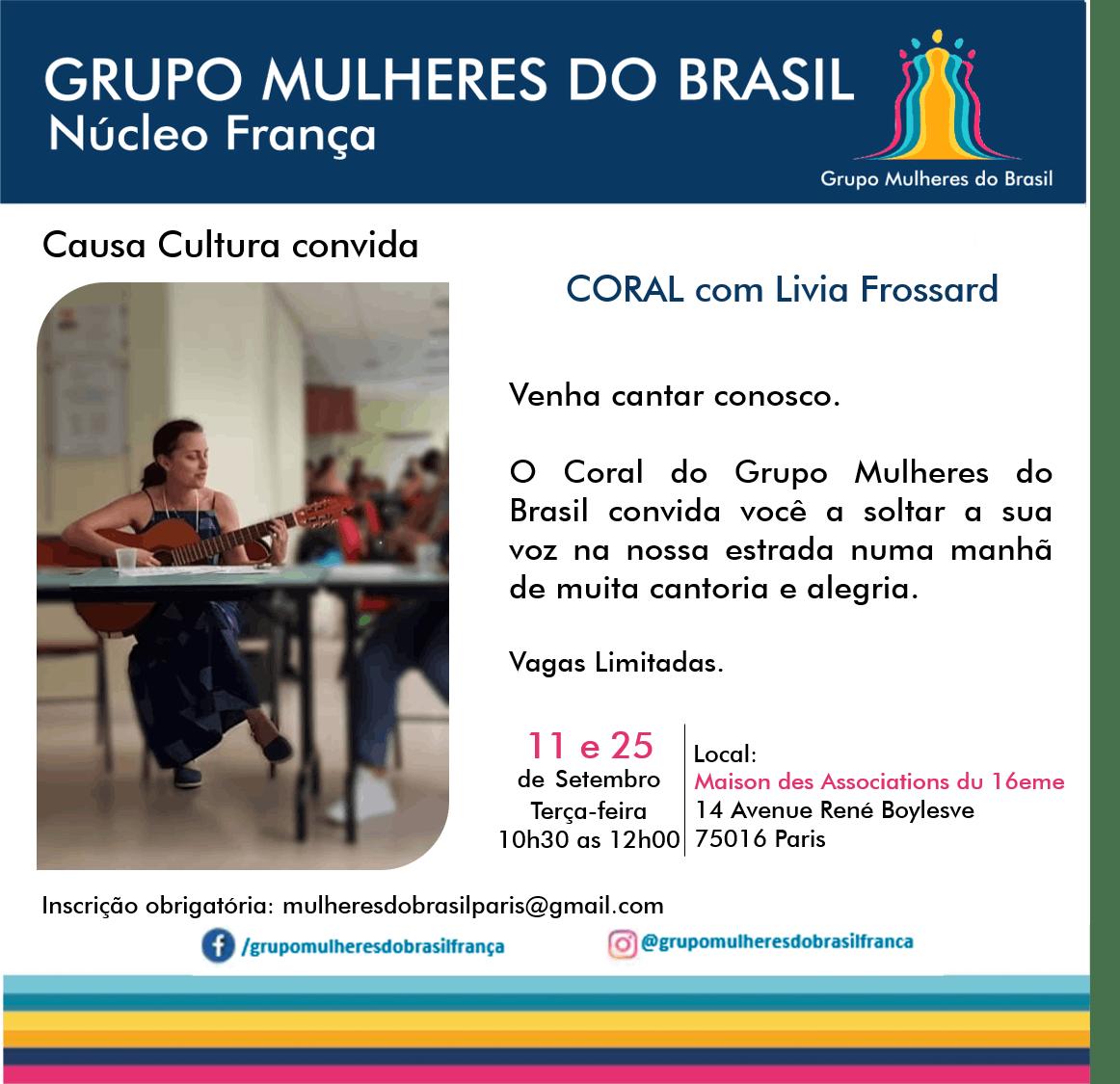 Coral Mulheres do Brasil - 25 de Setembro