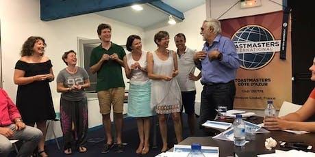 Soirées Prise de Parole en public - Club Toastmasters Côte d'Azur billets