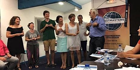 Soirées Prise de Parole en public - Club Toastmasters Côte d'Azur tickets