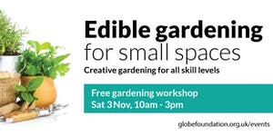 Edible gardening for small spaces workshop