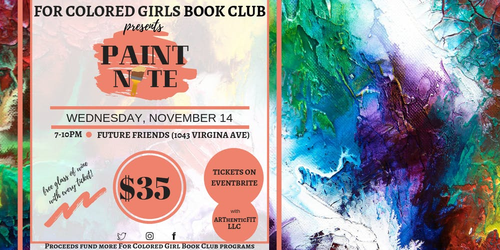 Paint Nite with For Colored Girls Book Club Tickets, Wed, Nov 14 ...