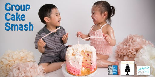 Group Keiki Cake Smash At The Oh Baby Family Expo