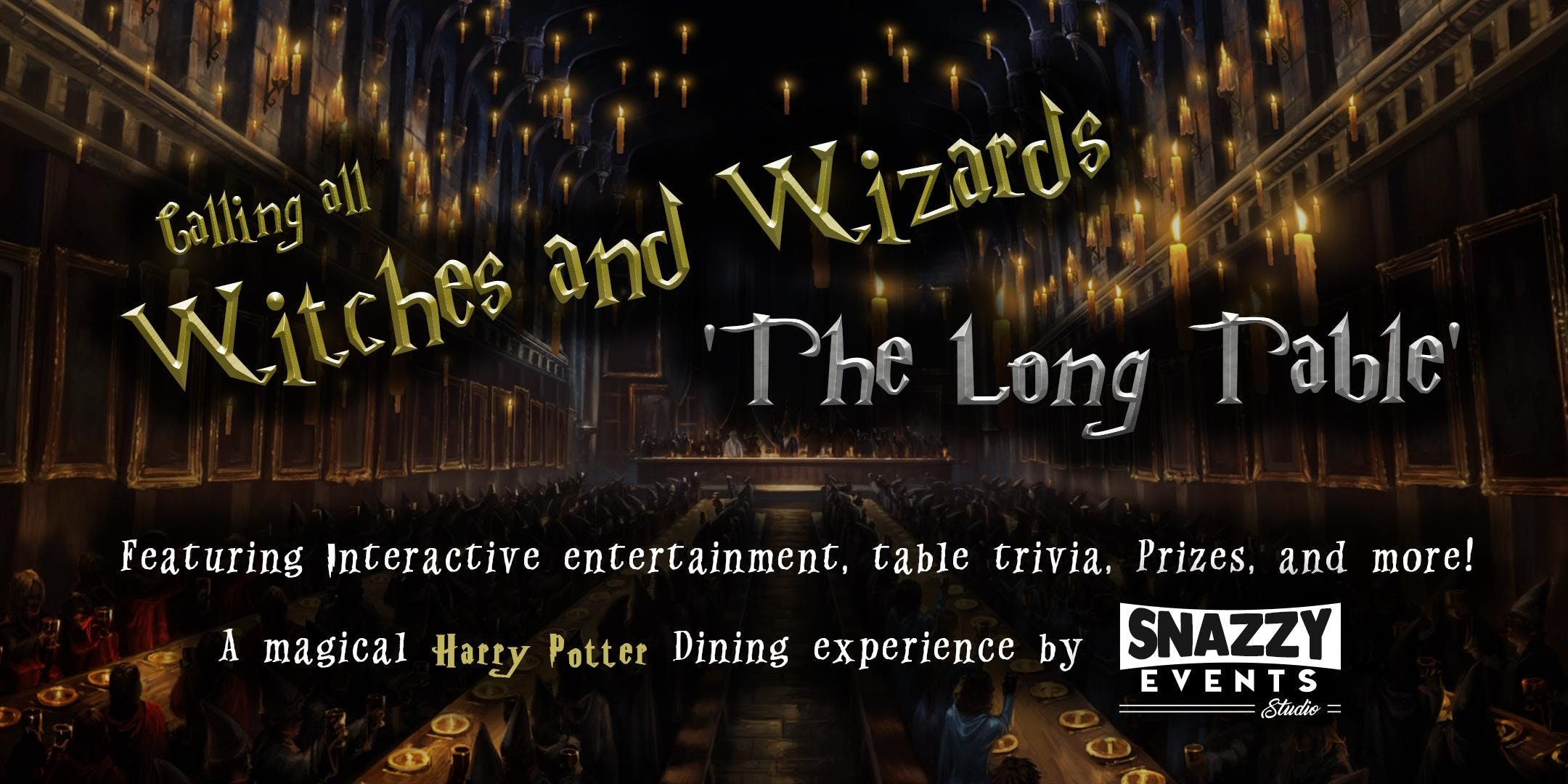 The Long Table - A Magical Harry Potter Dinin