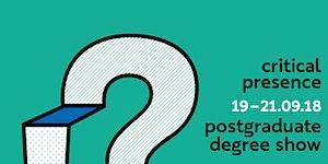 Critical Presence: Ravensbourne's Postgraduate Degree...