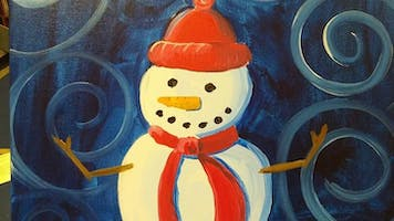 Red Hat Snowman Painting