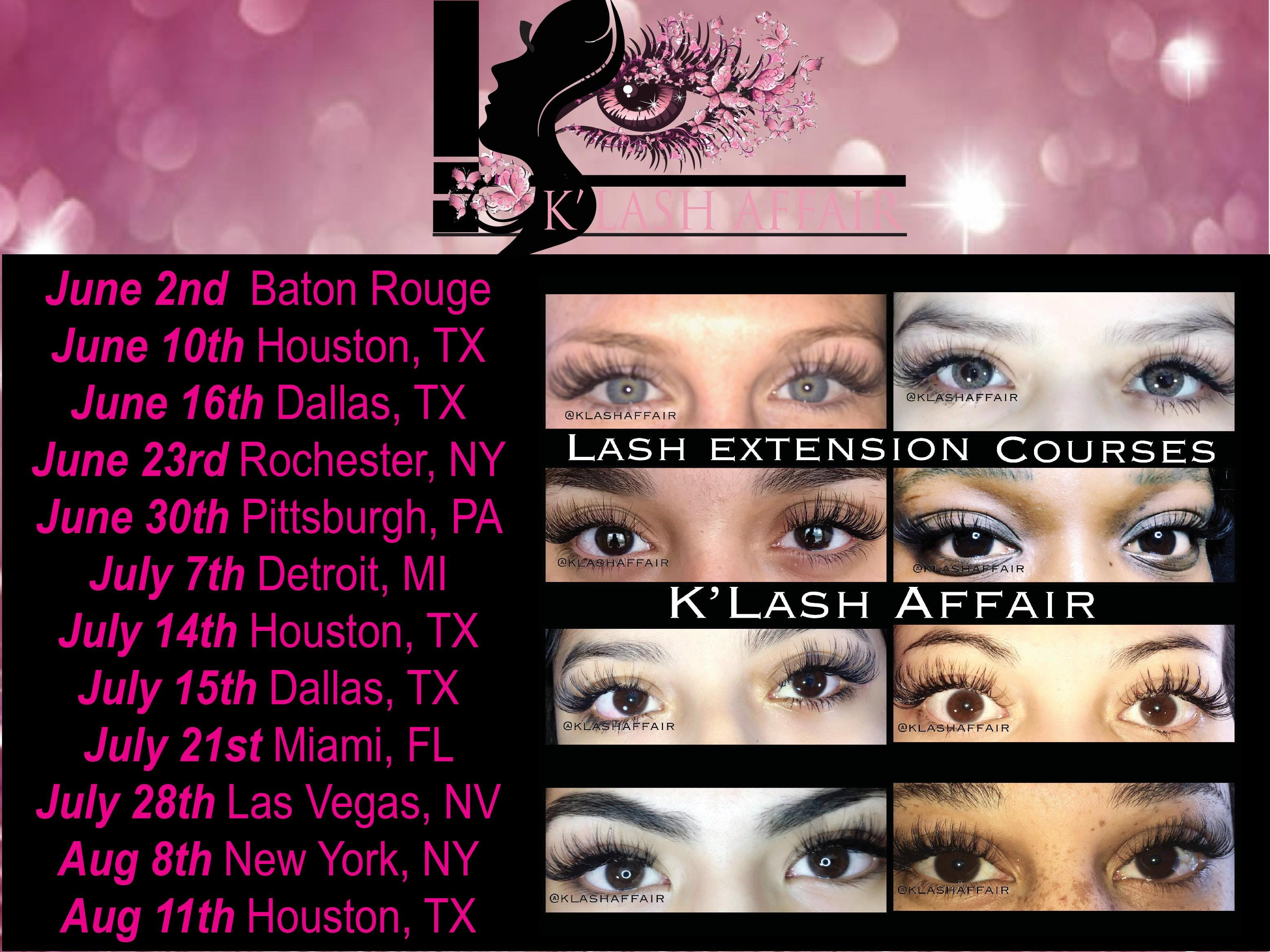 Eyelash Extension Course 22 Oct 2018