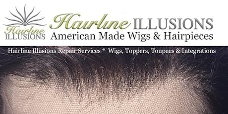 PROFESSIONAL HAIR SYSTEM REPAIRS: WIG – Topper – Toupee  – Integration – Thin Skin – Vacuum Fit – Cranial Prosthesis tickets