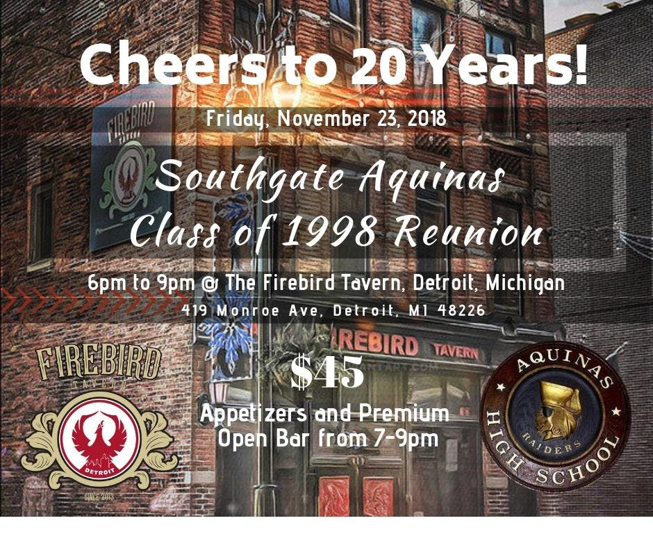 AQUINAS Class of 1998 REUNION