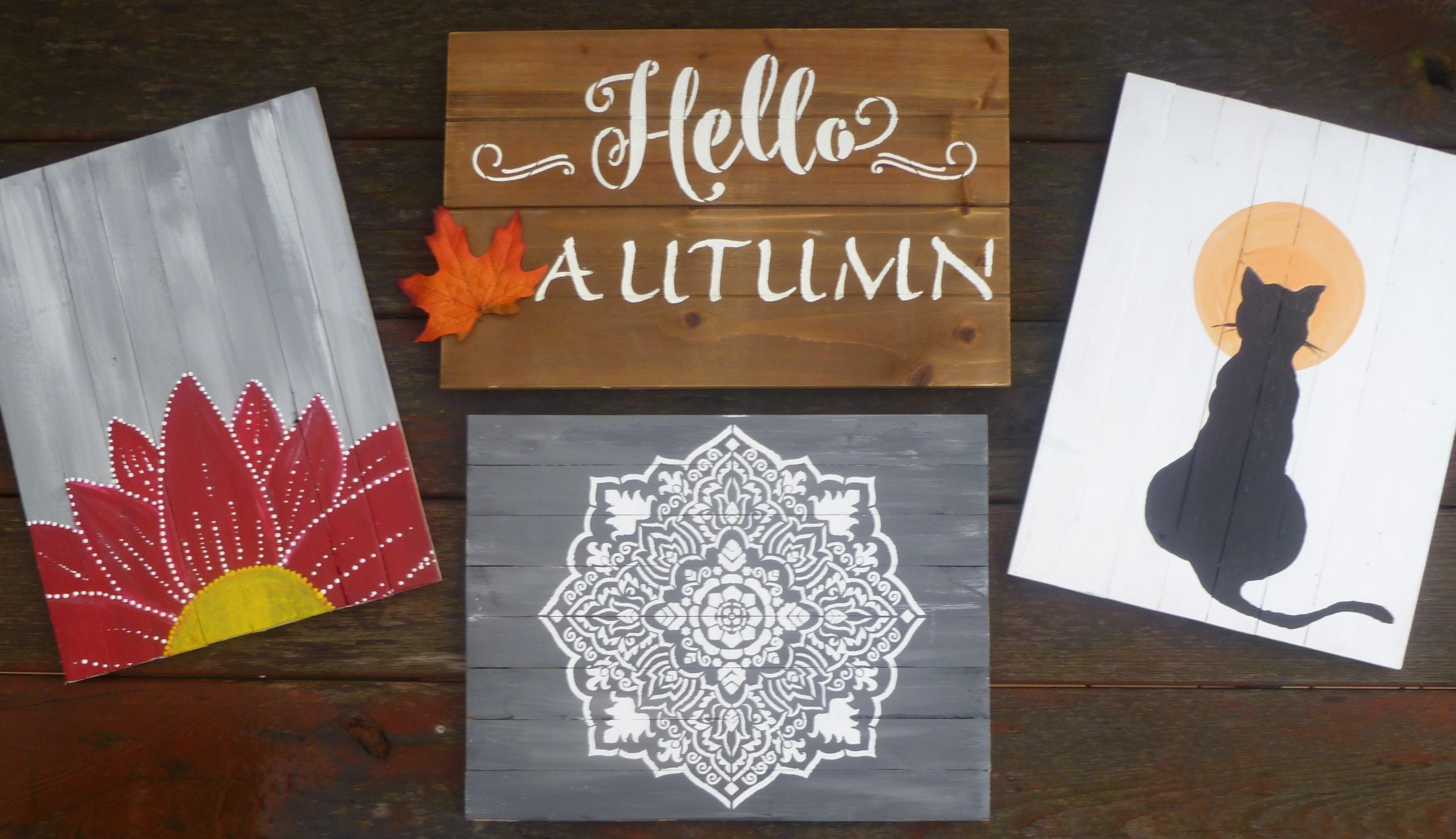 Painted Wood Signs Class