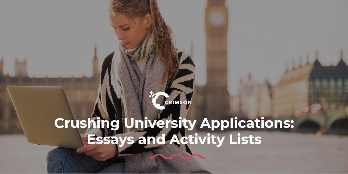 Crushing University Applications: Essays and Activity Lists - Zurich