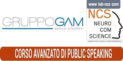 CORSO AVANZATO DI PUBLIC SPEAKING