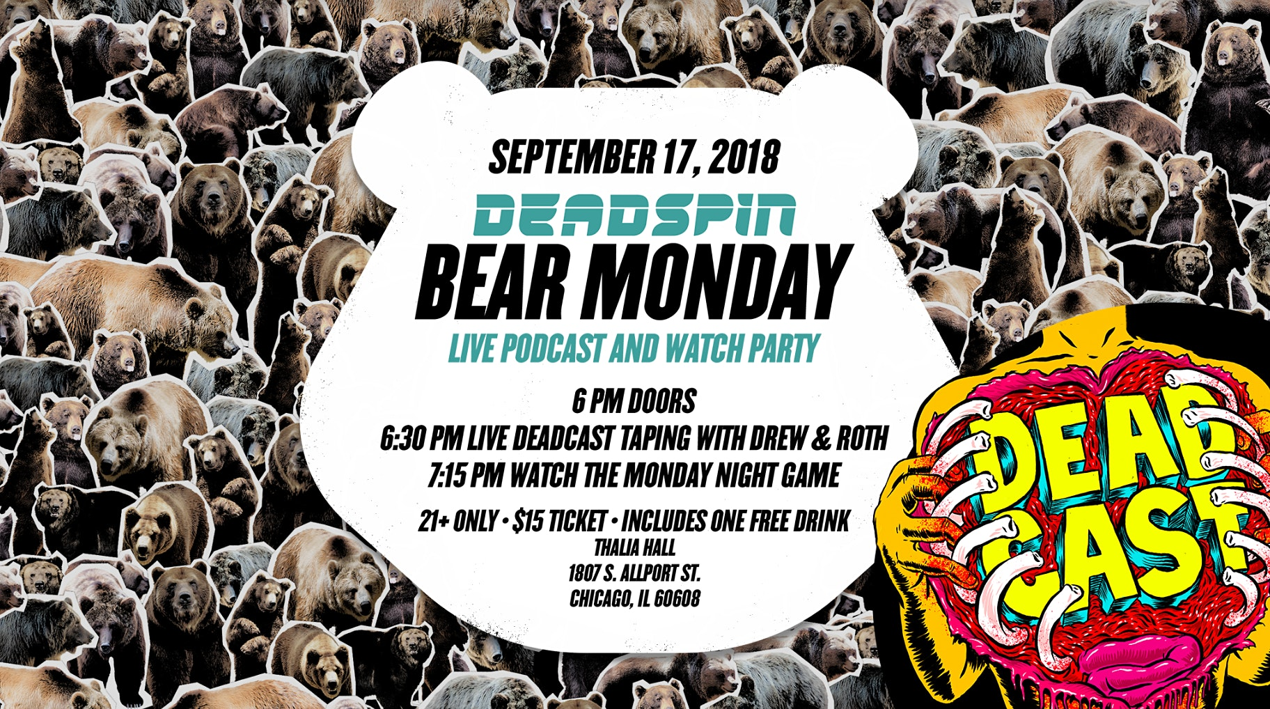 Deadspin Bear Monday: Podcast and Watch Party