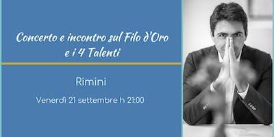 Concerto e Incontro sul Filo D'Oro e i 4 talenti con Daniel Lumera