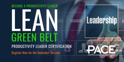 Lean Green Belt/Productivity Leader Training - Sudbury - December 2018
