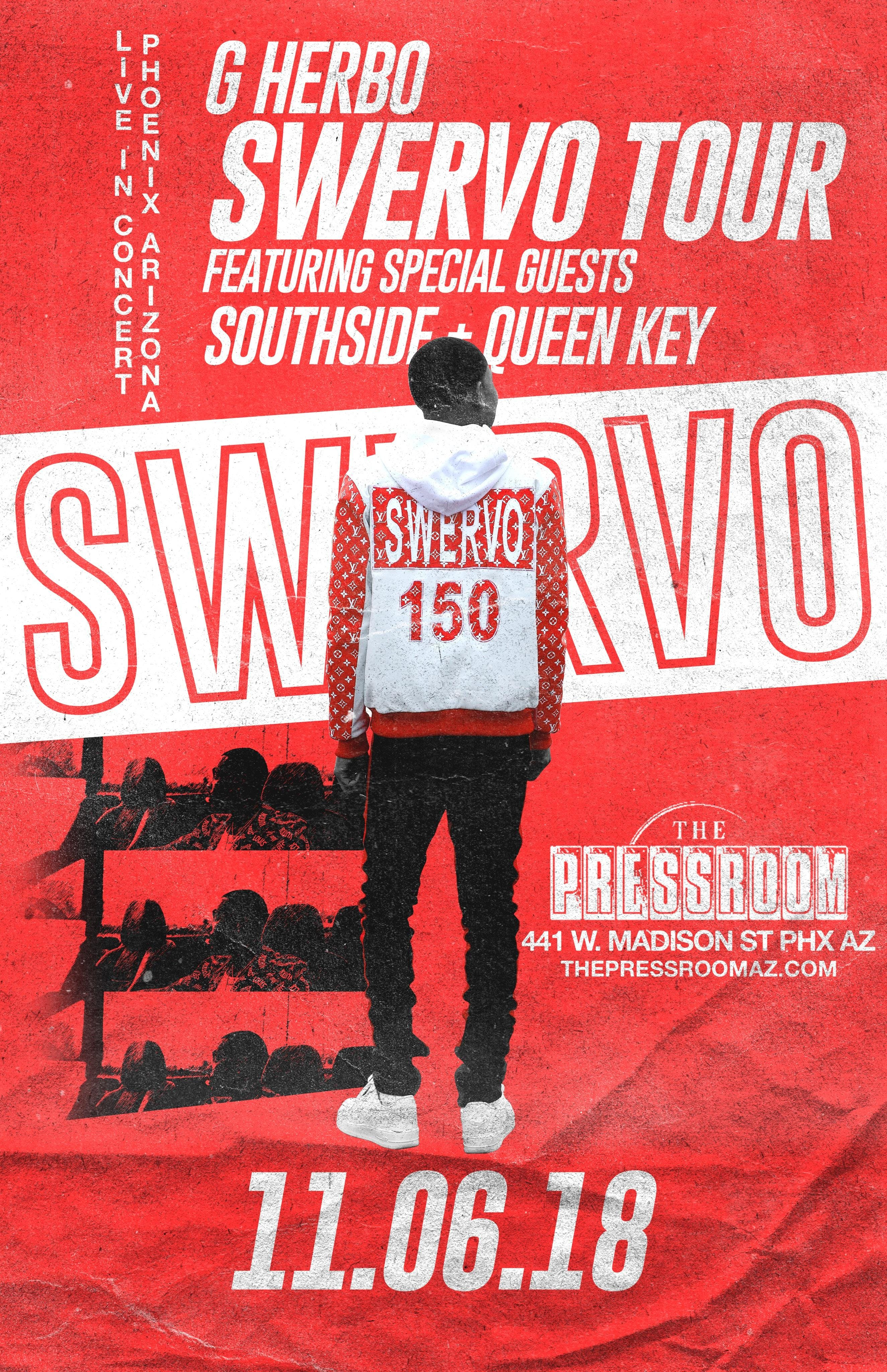 G Herbo w/ special guests Southside, Queen Key, Lil James, Q Money @ The Pressroom