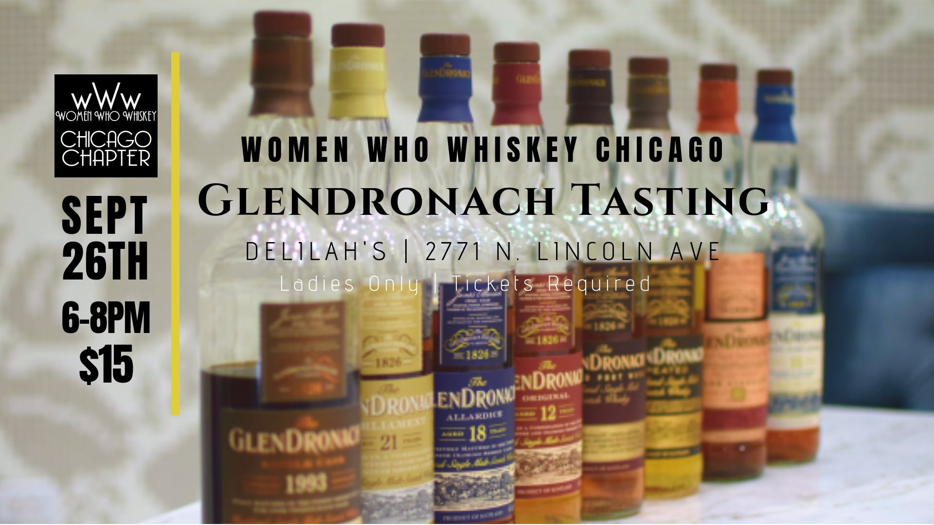 Glendronach Sherry-Aged Whisky Tasting with W