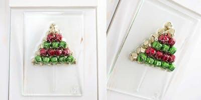 Holiday theme shattered glass resin class (Menorah, Tree, Star of David etc.)