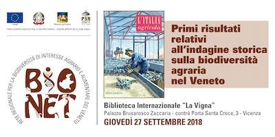 Primi risultati relativi all'indagine storica sulla biodiversità agraria nel Veneto