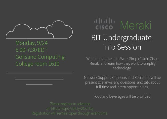 Cisco Meraki RIT Undergraduate Info Session