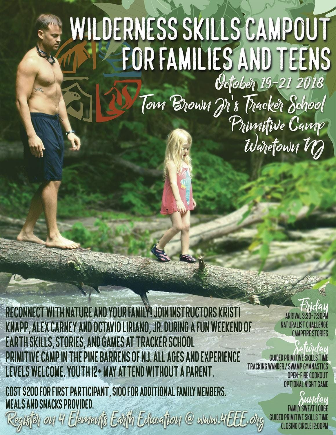 Wilderness Skills Camp out for Families and T