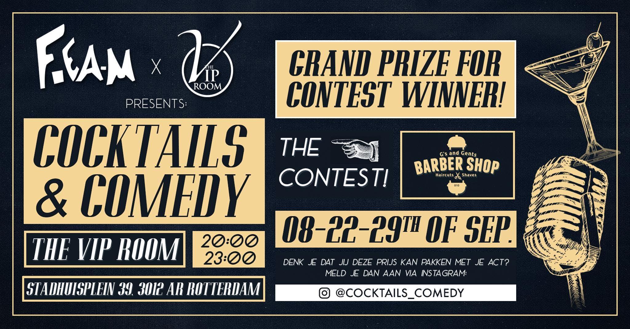 Cocktails & Comedy 22-9