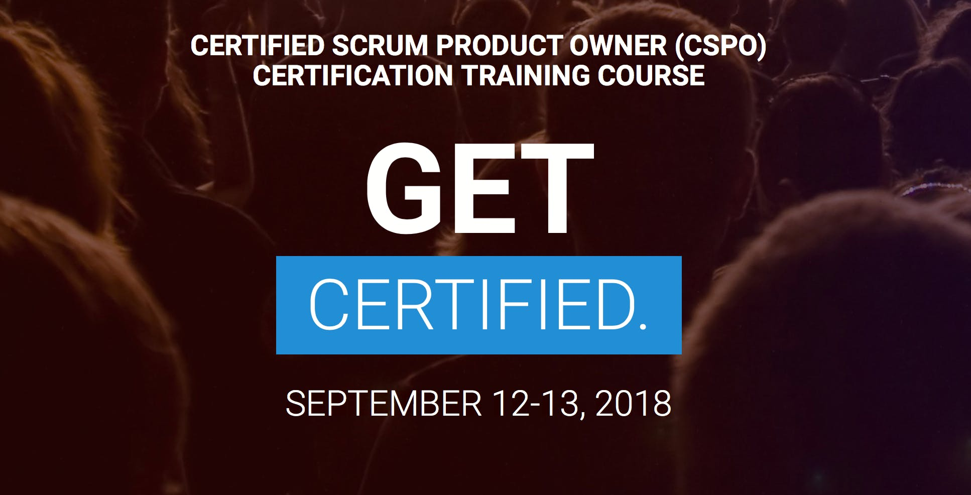Certified Scrum Product Owner Cspo Training Class Peoria Il