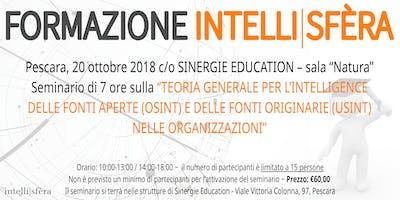Seminario Intelli|sfèra sulla Teoria Generale per l'Intelligence delle fonti aperte (OSINT)