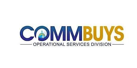 Vendor Webinar: COMMBUYS Organizational Design and Maintenance (Online Training) tickets