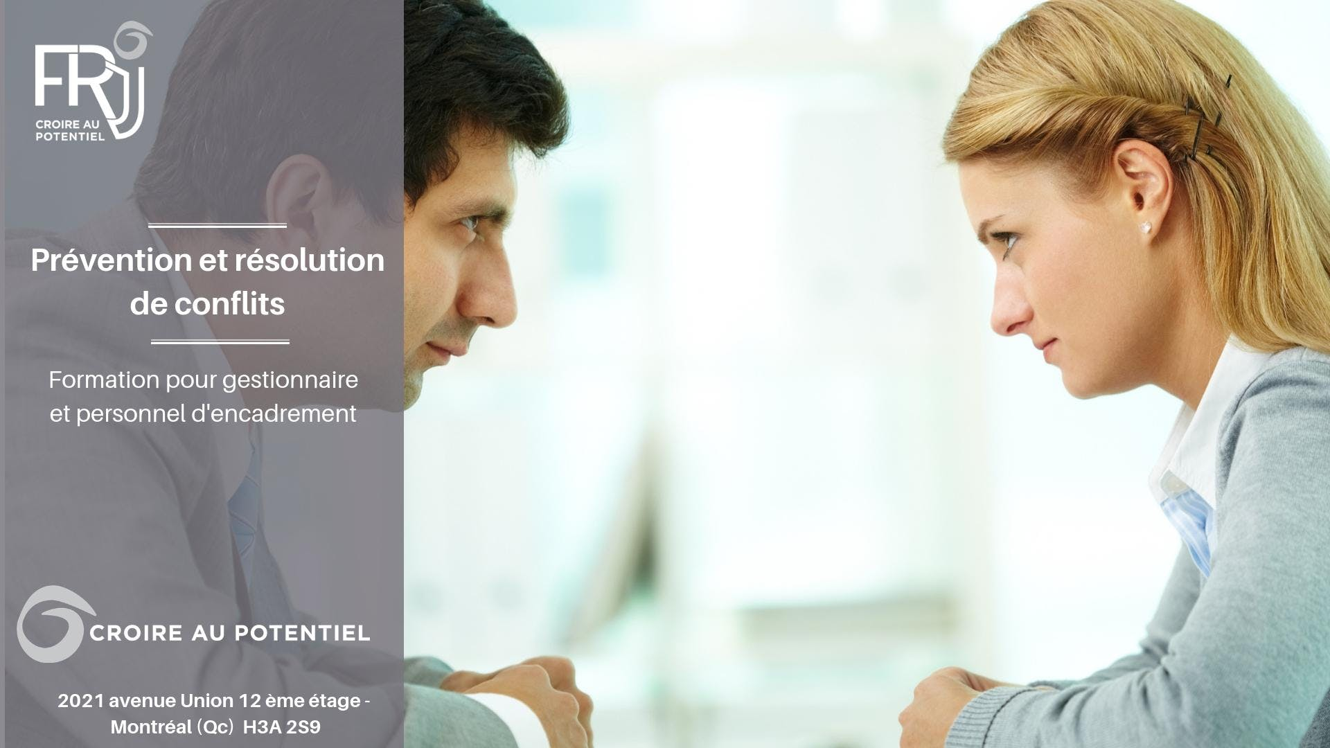 """Formation """"Prévention et résolution de confli"""