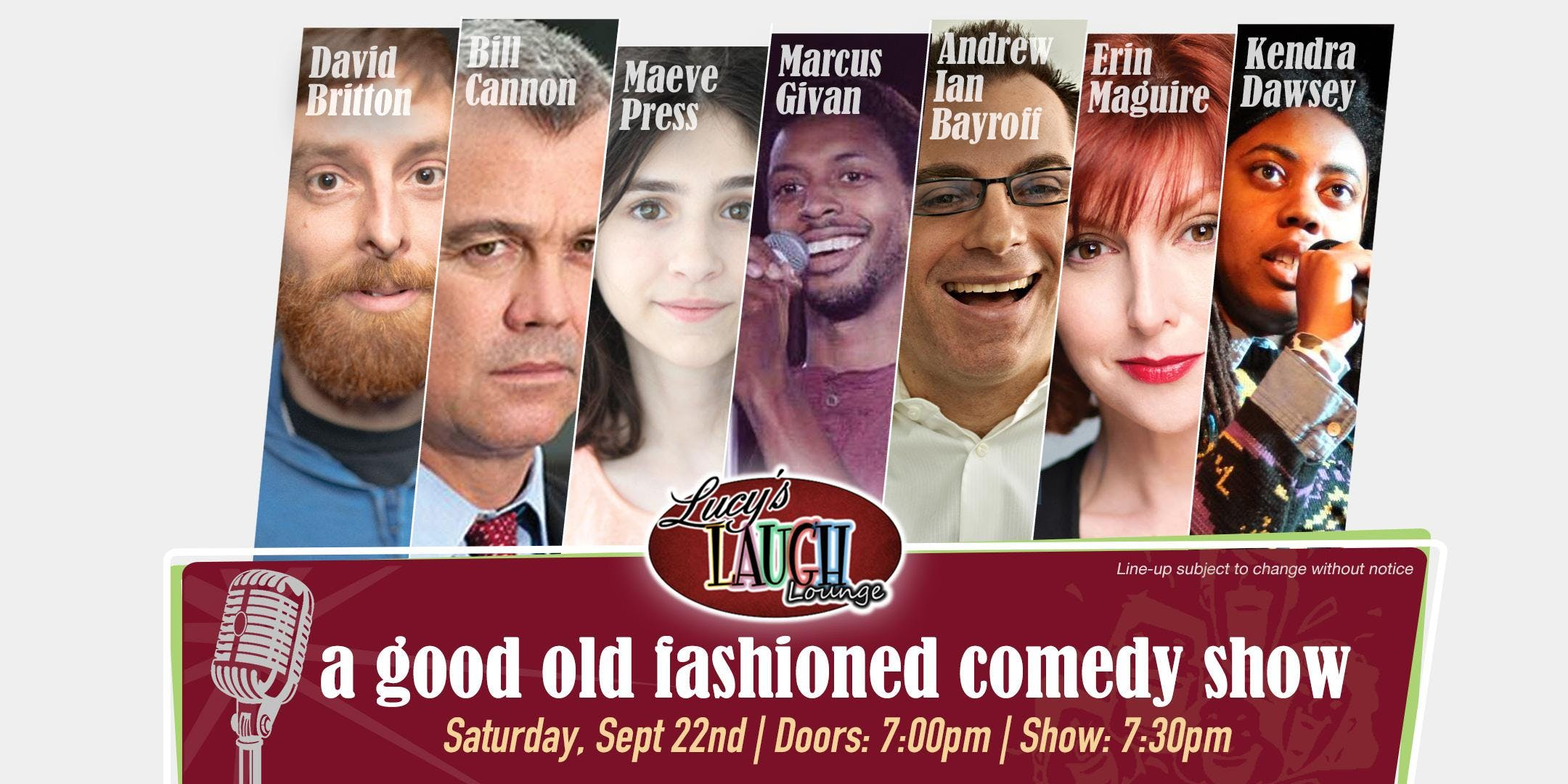 A Good Old Fashioned Comedy Show @ Lucy's Lau