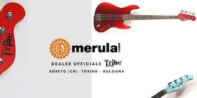 Presentazione bassi Tribe presso Magazzino Musicale Merula a Cherasco