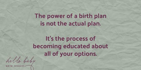 creating your birth plan tickets