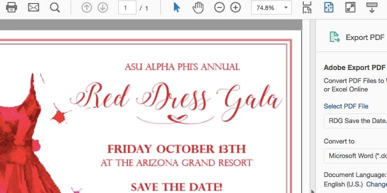 2018 ASU Alpha Phi Red Dress Gala