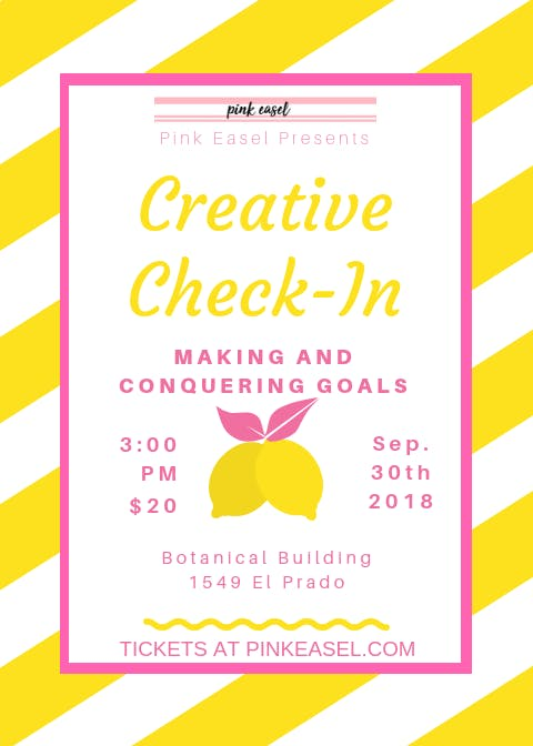 Pink Easel: Creative Check-In, Making and Con